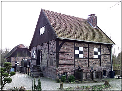 The Sythen Mill in Haltern with chessboard patterns on the walls (Source: Wikimedia Commons)