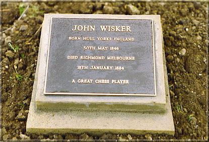 Photograph taken in 1994 by the Kew Cemetery caretaker, John Shannon. The plaque is about 200 mm x 200 mm.