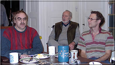Ken Whyld flanked by Gert Timmermann and Jurgen Stigter (Amsterdam Meeting November 30, 2002)