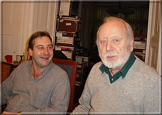 Ken Whyld together with Austrian chessplayer Herbert Rudolf