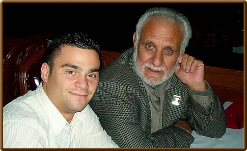 Our member Lawrence Totaro with his friend Larry Evans at dinner (2005)