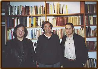 "This Spanish group calls itself ""Círculo José Paluzíe"": José Antonio Garzón, Miquel Artigas, Josep Alió (from the left to the right)"