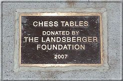 Close-up of the plaque identifying the donor